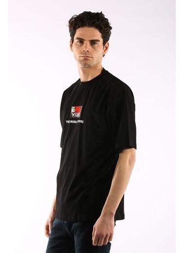 Rodrigo 3867 Scarface Baskı Oversize Erkek T-Shirt Siyah